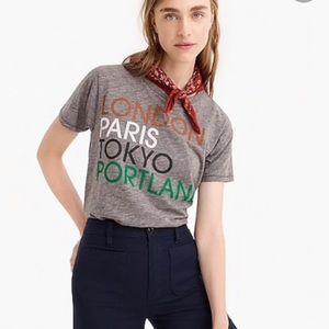 J. Crew London Paris Tokyo Portland T-shirt